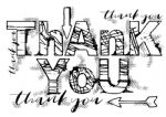 Grungy Thank You Clear Woodware Stamp (FRS735)